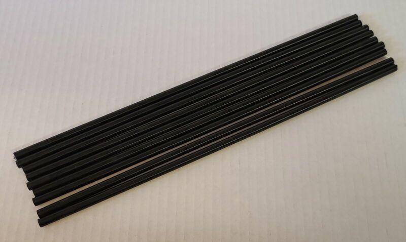 "(x9) Delrin Acetal Rod Black 1/4"" .250 Diameter - 12"" Long - Free Shipping!"
