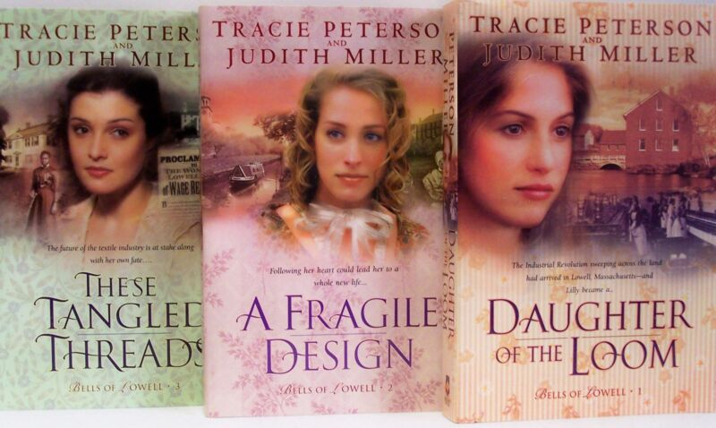 BELLS OF LOWELL Vol 1-3 by Tracie Peterson NEW w/*remainder mark PB