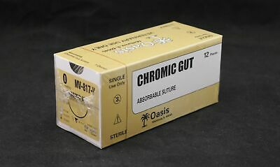 Veterinary Chromic Gut Absorbable Suture Size 0 Needle Ncp-1 12box