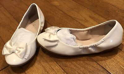 NEW Ruby & Bloom Elsie Bow White Patent Shoes Wedding Easter 1st Communion Sz 3