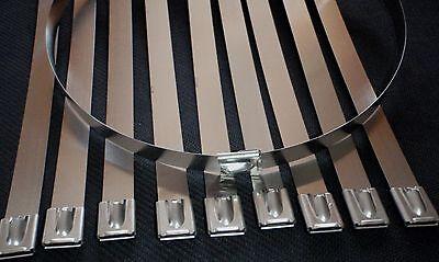 10pc Stainless Steel 22 Exhaust Header Zip Tie Strap Band 12w 12x550