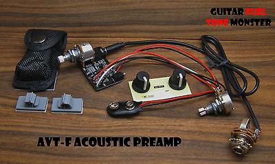 TONE MONSTER AVT-F Acoustic Preamp Guitar Bass Ukulele Mandolin Cajon Dulcimer