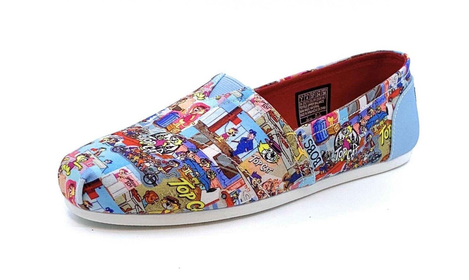 Skechers BOBS Women's Slip On Canvas Casual Shoes Bobs Plush Boss Cat 33273/MLT