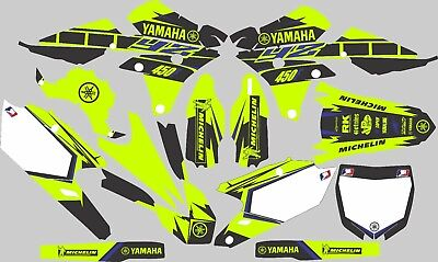 Vibrant Highlighter YAMAHA GRAPHICS  YZ 450F YZ450F 2014 2015 2016 2017