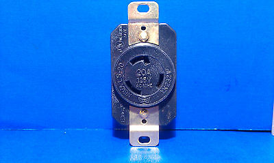 Replacement Wall Receptacle 20 Amp 125 Volt Twist Lock 3 Prong Nema L5-20r