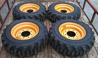 4 New 10x16.5 Skid Steer Tires Rims For Case - 6 Or 8 Lug - 10-16.5 - 10 Ply