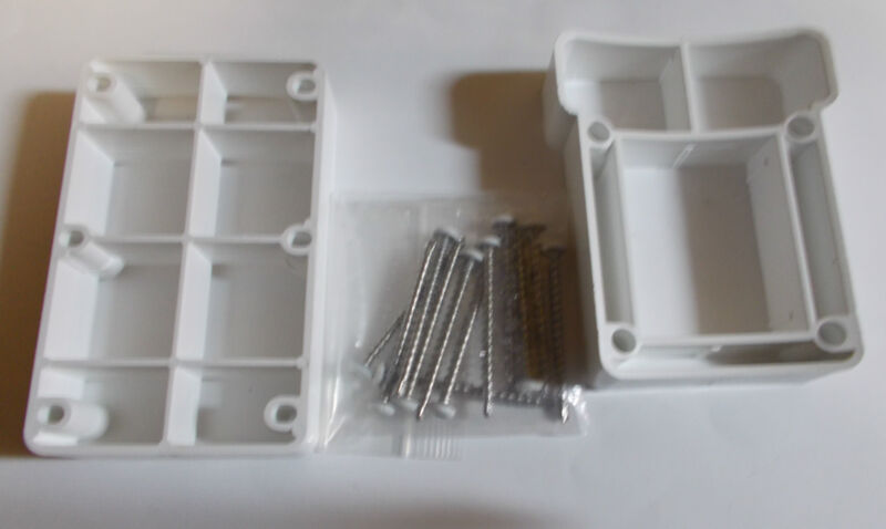 """Plastic 10"""" Round Column Mounting  Wedges  x9  sets"""