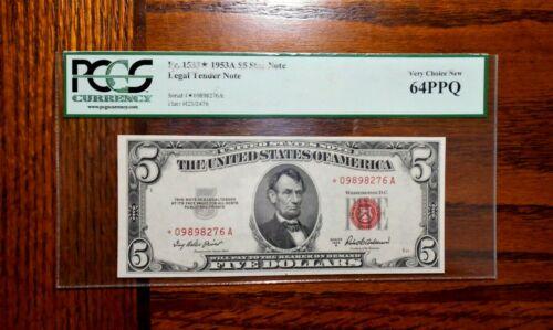 1953-A $5 Legal Tender Star Note ⭐ PCGS 64 PPQ
