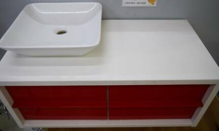 Ex Display RF Arte 900 Retro Red Bathroom Wall Hung Modern Vanity Richmond Yarra Area Preview