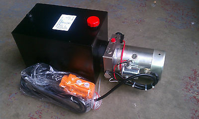 Single Acting Hydraulic Power Unit, Remote Dump Tipper Trailer Power Unit, NEW