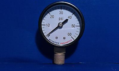Air Compressor Pressure Gauge 14 Brass Npt Bottom Mount 60 Psi 2 Black Case