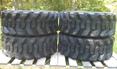 4 New Loadmax 12-16.5 Skid Steer Tires - 12 Ply - For Cat New Holland Others