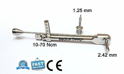 New Universal Torque Wrench Ratchet 10-70 Ncm Abutment Dental Implant Instrument