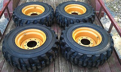 4 New Deestone 12x16.5 Skid Steer Tires Rims For Case Xt 400 Series-12-16.5