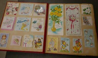 Vintage 1955 PRE/POST WEDDING SCRAPBOOK CARDS