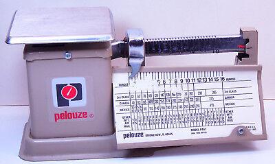 Vintage Pelouze Balance Beam Postal Scale 16 Oz. Paa1 1995 Rates