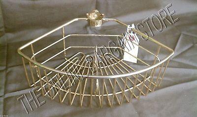 Frontgate 13K gold tension Mount Shower Butler Caddy basket divider shelf new