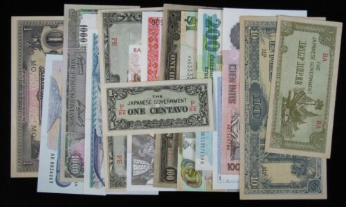 15 Different Mixed Foreign World Banknote Currency Paper Money Lot #200