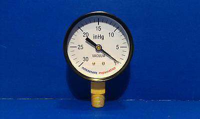 Hg Vacuum Pressure Gauge 14 Brass Npt Bottom Mount 30 Psi 2 12 Black Dial
