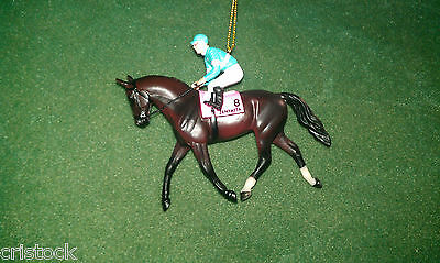 BREYER RACE HORSE CHRISTMAS ORNAMENT WITH BOX - ZENYATTA -- KENTUCKY DERBY --NIB