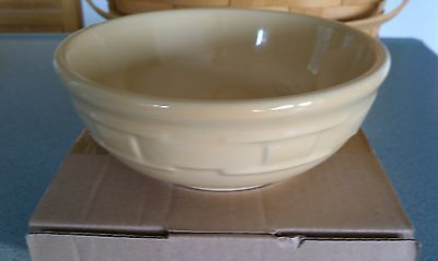 Longaberger Pottery Cereal Bowl Butternut yellow 26oz Woven Traditions NEW w/box