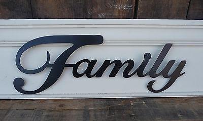 METAL WORD ~Home Decor~ FAMILY HOPE LOVE LAUGH FAITH LIVE ~Black Letter Wall (Love Letter Art)