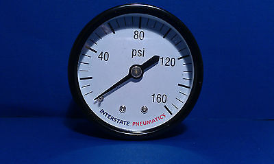 Air Compressor Pressure Gauge 18 Brass Npt Back Mount 160 Psi 2 Black Case