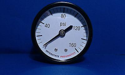 Air Compressor Pressure Gauge 14 Brass Npt Back Mount 160 Psi 2 Black Case