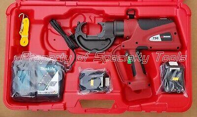 Burndy Pat750li Hydraulic Battery Operated Crimper Patriot Crimping Tool Demo