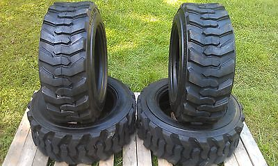 4 New 10-16.5 Skid Steer Tires 12 Ply- 10x16.5-for Bobcat Catjohn Deere More