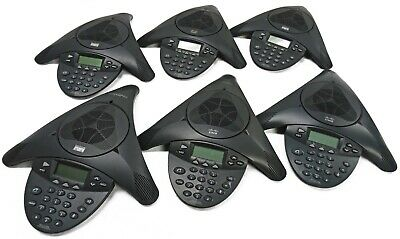 Lot Of 6 Polycom Cisco 7936 Ip Conference Station Cp-7936