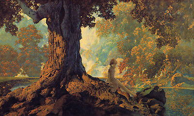 Dreaming  by Maxfield Parrish   Giclee Canvas Print Repro Dreams Giclee Print