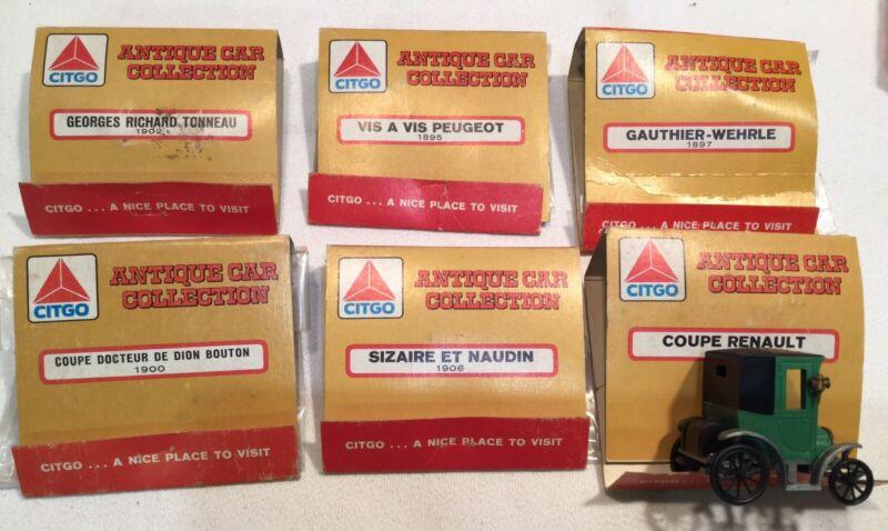 6 CITGO Antique Car Collection Matchbox Model Kits. 1 Built, 5 Unbuilt Free Ship