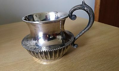 quality small silver plated cream jug