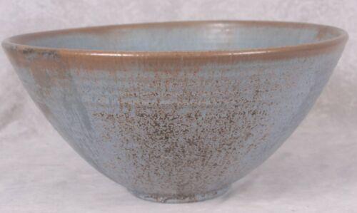 Vintage Dorothy Cole Auman Seagrove Pottery N Carolina Large Blue Punch Bowl