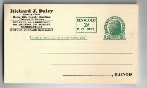 Early Career Chicago Mayor Richard J. Daley As Cook County Clerk Govt. Postcard