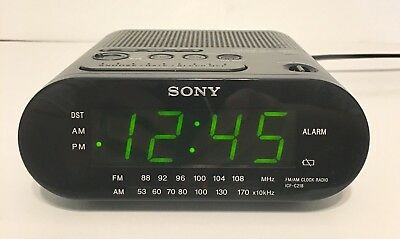 Sony Dream Machine ICF-C218 Clock Radio Alarm Auto Time Set