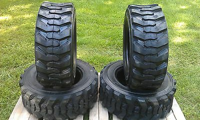 4 New 12-16.5 Skid Steer Tires - 14 Ply Rating - 12x16.5 - For Bobcat Others