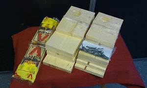 QTY 2/WEASEL BOX KITS INCLUDING RAT TRAPS/WEASEL TRAPPING/TRAPPING SUPPLIES