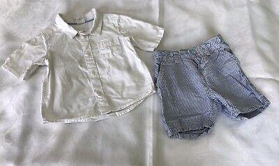 Bekleidungsset Jungen Hemd Gr 68 und Hose Gr 68 von H & M gebraucht kaufen  Gotha