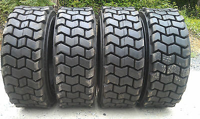 4 New 10x16.5 Skid Steer Tires 10-16.5-12 Ply Rating-heavy Duty Non Directional