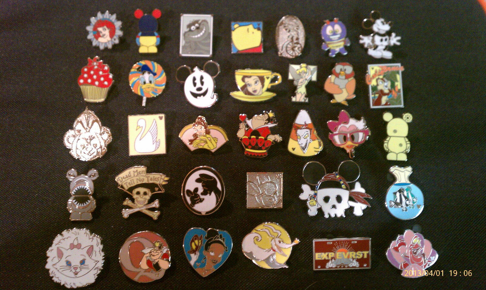 Disney Trading Pins-Lot of 25-No Duplicates-LE-HM-Rack-Cast-Free Shipping Lot A