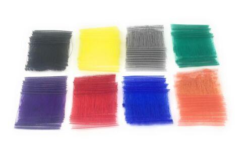 "Standard Tagging Gun Barbs Fasteners 3"" 500 each Eight Colors 4000 Total"