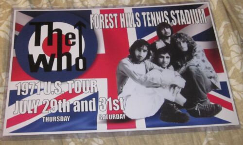 THE WHO 1971 U.S. TOUR FOREST HILLS STADIUM REPLICA CONCERT POSTER