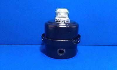 Air Compressor Intake Filter Silencer 12 Inch Npt Metal Housing Paper Element