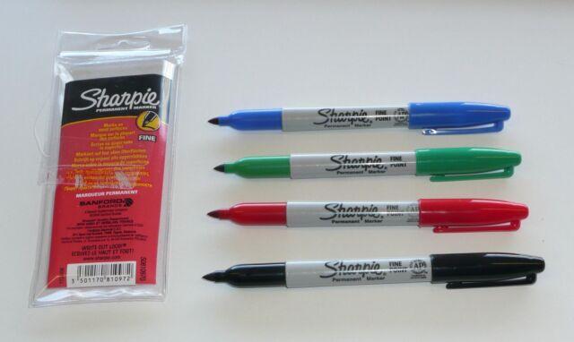 Sharpie Fine Permanent Marker Set. 4 Assorted colours.