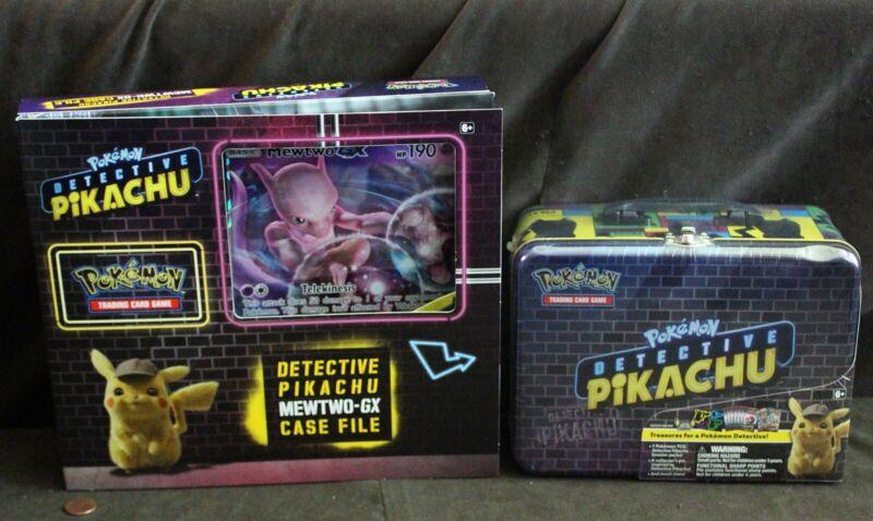 Pokemon Detective Pikachu Mewtwo Gx Foil Box Metal Lunchbox