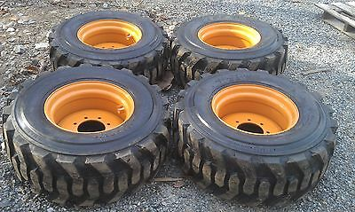 4 New 14x17.5 Skid Steer Tires Rims For Case - 14 Ply Rating - 14-17.5