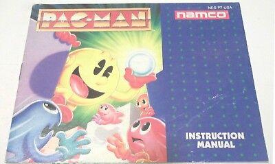 Pac-Man (Nintendo) pac man Namco version OEM NES Instruction MANUAL Book Guide