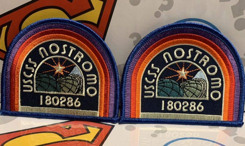 2x BAM BOX EXCLUSIVE ALIENS USCSS NOSTROMO 180286 IRON ON PATCH COSPLAY